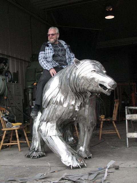Martin riding the Bear.