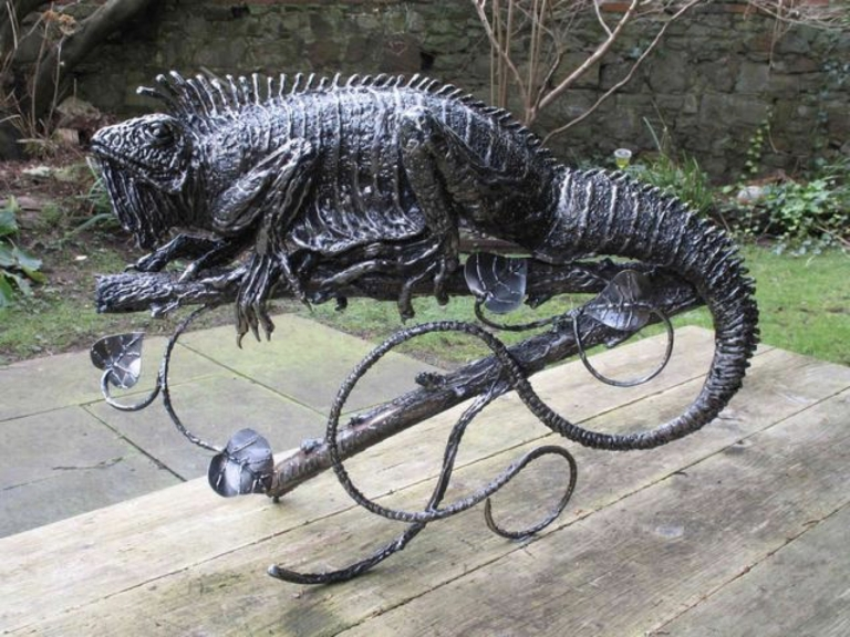 Iguana made for Sir Peter Viggers.